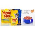 Корм для взрослых котов Meow Mix Seafood Medley, 6,44кг