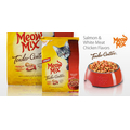 Корм для взрослых котов Meow Mix Tender Centers Salmon & White Meat Chicken Flavors, 175гр