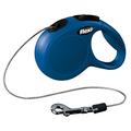 Рулетка Flexi New Cassic XS с тросовым поводком, синяя