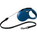 Рулетка Flexi New Cassic S с тросовым поводком, синяя