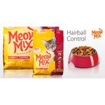 Корм для взрослых котов Meow Mix Hairball Control, 1кг