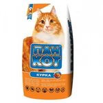Сухой корм для кошек Пан Кот Курица, 10 кг