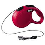 Рулетка Flexi New Cassic XS с тросовым поводком, красная