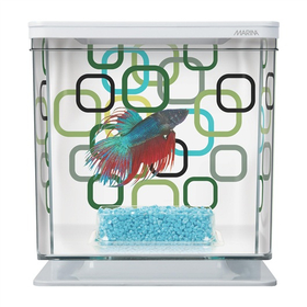Аквариум для петушка Hagen Marina Betta Kit Geo Bubbles